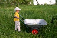 Kind in der Arbeit stockbild