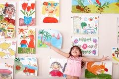 Kind in der Kunstkategorie mit Abbildung. Stockbild