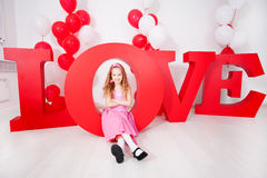 Kind in der Liebe Stockbild