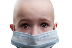 Kind in der Medizinschablone stockbilder