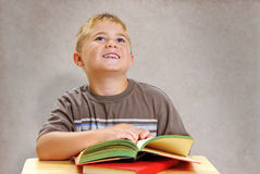 Kind an der Schule Stockfoto