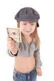 Kind in der Schutzkappe Stockfotografie