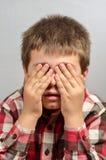 Kind die lelijke gezichten 24 maken Royalty-vrije Stock Afbeeldingen