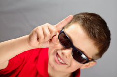 Kind die toestemming vragen Royalty-vrije Stock Foto's