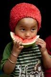 Kind die watermeloen eten Stock Fotografie