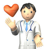 Kind doctor is smiling. Stock Photos
