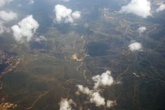 Kind on the earth from plane Royalty Free Stock Photography