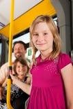 Kind in een bus Stock Afbeeldingen