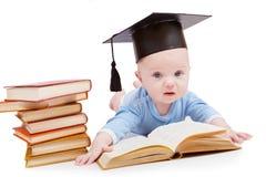Kind in einem Hut des Junggesellen Lizenzfreie Stockfotos