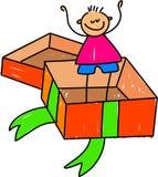 Kind in einem Kasten Lizenzfreie Stockfotografie