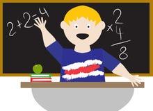 Kind in einem Klassenzimmer Stockfoto