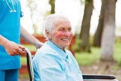 Kind Elderly Lady Royalty Free Stock Photos