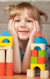 Kind en blokken Stock Afbeelding