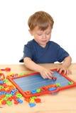 Kind en brieven stock foto