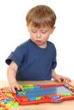 Kind en brieven Stock Afbeelding