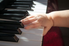 Kind en muziek Stock Fotografie
