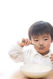 Kind en plaat Stock Afbeeldingen