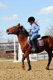 Kind en poney royalty-vrije stock afbeelding