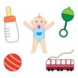 Kind en van kinderen toebehoren Vector vector illustratie