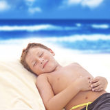 Kind entspannen sich Stockfotos