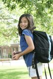Kind erregt über Schule Lizenzfreie Stockfotografie