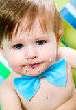 Kind feiert seinen ersten Geburtstag Stockbilder