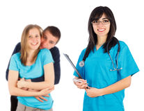 Kind Family Doctor Royalty Free Stock Photography