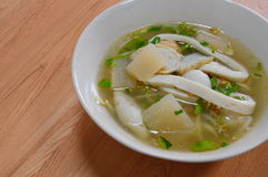 Kind of fish ball in soup Royalty Free Stock Photography