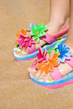 Kind-Flipflops Stockbild