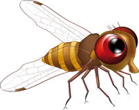 Kind fly from a cartoon film. With red eyes Stock Photo