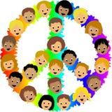 Kind-Friedenszeichen/ENV Stockbilder