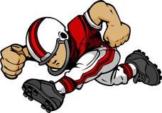 Kind-Fußball-Spieler-laufende Karikatur Lizenzfreie Stockfotografie