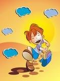 Kind gehen zur Schule Lizenzfreie Stockfotos