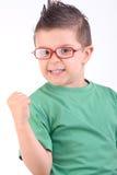 Kind glücklich für das Gewinnen lizenzfreie stockfotografie
