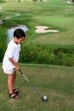 Kind Golfing Stock Foto's
