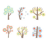Kind of graphic tree Royalty Free Stock Photography