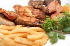 Kind of grilled food Stock Photography