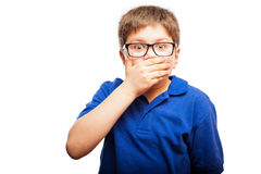 Kind hörte gerade den spätesten Klatsch Lizenzfreies Stockfoto