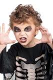 Kind in Halloween kostuum royalty-vrije stock afbeelding