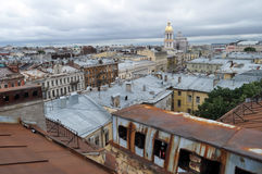 Kind from height on an old part of the city of St.-Petersburg Stock Images