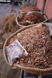 A kind of herb at Moroccan spicies market. Marrakech, Morocco. royalty free stock photography