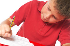 Kind het bestuderen Stock Foto's