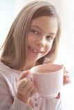 Kind het drinken cacao Stock Afbeelding