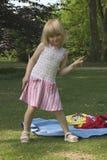 Kind in het park Stock Afbeelding