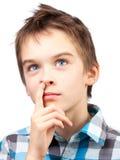Kind het plukken neus Stock Foto