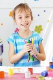 Kind het schilderen Stock Fotografie