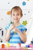 Kind het schilderen Royalty-vrije Stock Fotografie