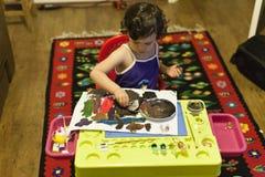 Kind het schilderen Royalty-vrije Stock Afbeeldingen