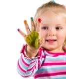 Kind het schilderen met vingers Royalty-vrije Stock Foto