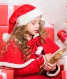Kind het Schrijven Brief aan Santa Claus Beste Kerstman E geloof royalty-vrije stock foto's